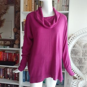 DEBBIE MORGAN relaxed hot pink sweater